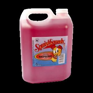 SquishSqash Rasberry Cordial 5L
