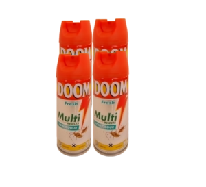 DOOM 4x 300ml  Multi insect Spray