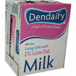 Dendairy 2% Low Fat  Milk (6 x 1 L)