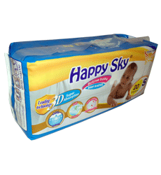 Happy Sky Baby Diapers Small (10 PACK)