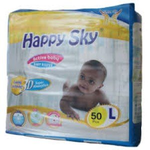 Happy Sky Baby Diapers Large (50 PACK)