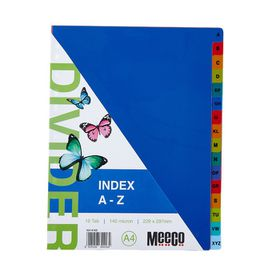 A4  A-Z Coloured File Dividers