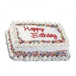 Rectangle Buttercream Birthday Cake